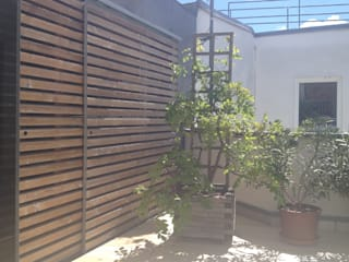 Private Spa Moderner Balkon, Veranda & Terrasse von dietrich + lang architekten Modern
