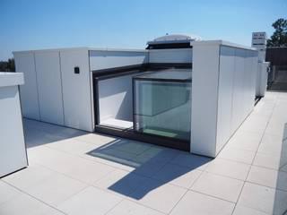 Openschuivende daktoegang Three Wall Box:  Terras door Glazing Vision