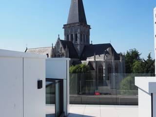 Daktoegang naar prachtig terras in Asse, bij Brussel:  Terras door Glazing Vision