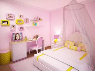 Ângela Pinheiro Home Design Nursery/kid's room Yellow