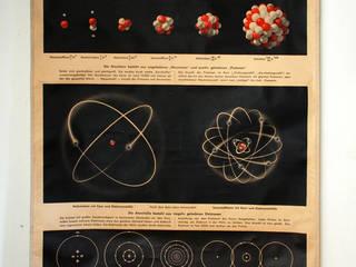 Vintage school kaart Atom:   door Smeerling Antiek & Restauratie