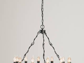 Modern industrial or soft loft Altavola Design Sp. z o.o. 客廳照明 金屬 Black
