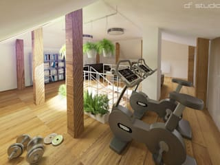 Attic with personal gym de D2 Studio Moderno
