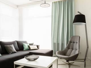 Anna Maria Sokołowska Architektura Wnętrz Salon moderne Blanc