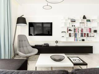 Moderne woonkamers van Anna Maria Sokołowska Architektura Wnętrz Modern