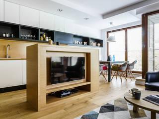 mieszkanie prywatne 3 pokoje - Garnizon - Gdańsk: styl , w kategorii Salon zaprojektowany przez Anna Maria Sokołowska Architektura Wnętrz ,Industrialny