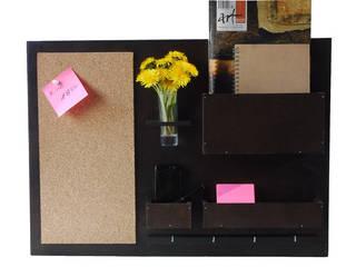 Organizer - 63x45 cm, drewniany, wenge: styl , w kategorii  zaprojektowany przez Silva Design