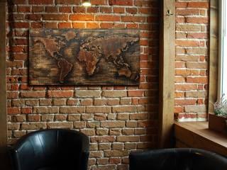 MAPA ŚWIATA 3D - duża, drewniana, przestrzenna: styl , w kategorii  zaprojektowany przez Silva Design