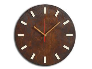 Scandi Clock - zegar drewniany 30 cm, wenge: styl , w kategorii  zaprojektowany przez Silva Design