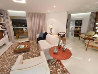 Living room by Aline Dinis Arquitetura de Interiores, Modern