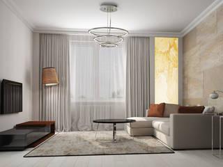 Квартира в современном стиле для девушки. Гостиная в стиле минимализм от Альбина Романова Минимализм