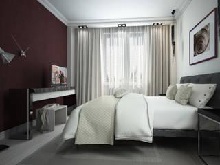 Квартира в современном стиле для девушки. Спальня в стиле минимализм от Альбина Романова Минимализм