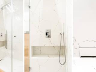 mieszkanie prywatne 3 pokoje - Nowe Orłowo - Gdynia : styl , w kategorii Łazienka zaprojektowany przez Anna Maria Sokołowska Architektura Wnętrz ,Nowoczesny