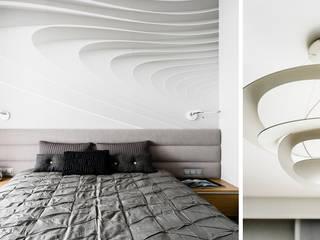 mieszkanie prywatne 3 pokoje - Nowe Orłowo - Gdynia : styl , w kategorii Sypialnia zaprojektowany przez Anna Maria Sokołowska Architektura Wnętrz ,Nowoczesny