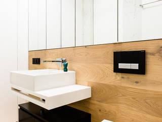 mieszkanie prywatne 3 pokoje - Nowe Orłowo - Gdynia : styl , w kategorii Łazienka zaprojektowany przez Anna Maria Sokołowska Architektura Wnętrz