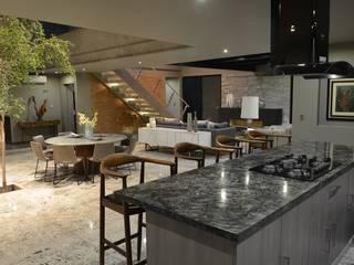 Casa Palenque Cocinas minimalistas de Con Contenedores S.A. de C.V. Minimalista Mármol