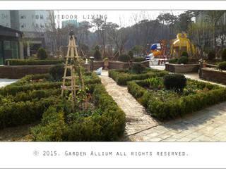 대우 죽동 푸르지오 모던스타일 정원 by Garden Studio Allium 모던