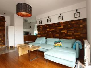 Panele ścienne klapka Mozaika drewniana: styl , w kategorii  zaprojektowany przez Atelier Projekt UmM
