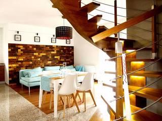 Panele ścienne klepka Mozaika drewniana: styl , w kategorii  zaprojektowany przez Atelier Projekt UmM