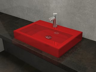 Nowa Droga W Standardach Modern Bathroom Pottery Red