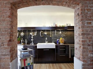 Wirth Architekten Industrial style kitchen