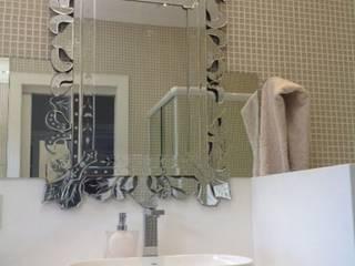 Banheiro romântico: Banheiros  por Cristiane Bértoli Arquitetura,Moderno