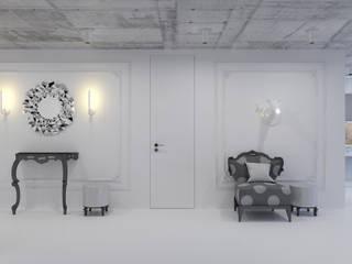 미니멀리스트 복도, 현관 & 계단 by 3D GROUP 미니멀