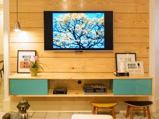 Apartamento CP: Salas de estar  por Rede Arquitetos