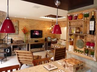 Salones rurales de Eveline Sampaio Arquiteta e Designer de Interiores Rural