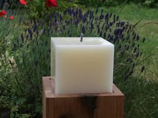 Outdoorkerze 15 x 15 x 12 cm:   von Polarlichter-Kerzen