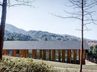 청태산국립자연휴양림 방문자안내센터: (주)나무아키텍츠 건축사사무소의  주택
