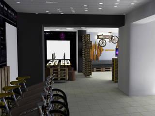 Espace d'exposition de vélo / Metz / France- ( Projet en cours de réalisation ) Espaces de bureaux originaux par Akele Corporation Éclectique