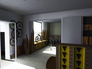 Espace d'exposition de vélo / Metz / France- ( Projet en cours de réalisation ) Espaces commerciaux originaux par Akele Corporation Éclectique