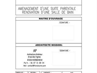 Dossier Phase A.P.D/E.X.E: Chambre de style  par Franck Corre