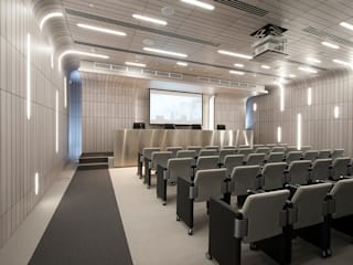 GAZPROM HEADQUARTERS: Studio in stile in stile Moderno di DEVOTO