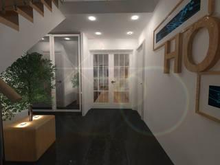AMENAGEMENT INTERIEUR # 010 - ENTREE Version # 001: Couloir et hall d'entrée de style  par HOME LAB'