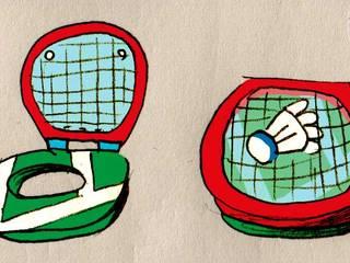 Bad-Minton:   von Comic Jansen