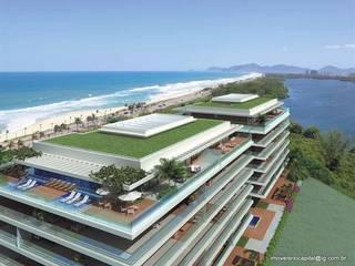 Grand Hyatt Residences - Suítes Residenciais - Barra da Tijuca: Terraços  por Imóveis Rio Capital,Tropical