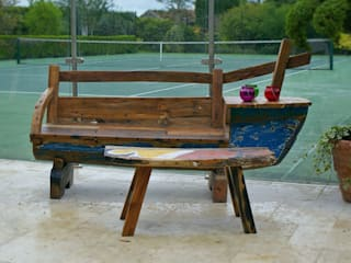 Outdoor Furniture - Reclaimed Javanese Fishing Boats: rustic  by BluBambu Living , Rustic