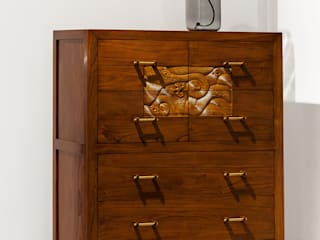 """Kommode """"Lang"""" aus Ulmenholz in unserem Store: asiatische Ankleidezimmer von MuHo Style GmbH"""