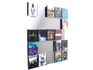 Superflache Wandmontage für Ihre Lieblings CDs - Ihre CDs werden zum Designobjekt: modern  von CD-Wall,Modern