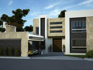 Residencia CR, Country Club Casas modernas de GA-Arquitecto Moderno