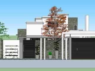VIVIENDA FAMILIAR ALANIS:  de estilo  por LE PONT Estudio de Arquitectura e Ingenieria
