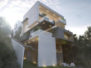 Vista Posterior Casas minimalistas de 21arquitectos Minimalista
