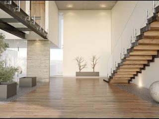 Pasillos y vestíbulos de estilo  por 21arquitectos, Minimalista