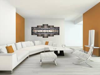 Modernes Wandbild Erdfarben: moderne Wohnzimmer von Bimago