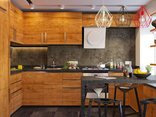 Industrial style kitchen by GP-ARCH Industrial