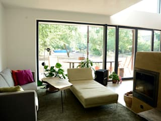 EFH Gugumuck - Wien Moderne Wohnzimmer von benjamin miatto Architektur+Gestaltung Modern