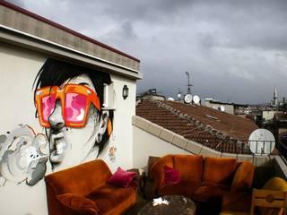 Istanbul Jugendherberge Ausgefallener Balkon, Veranda & Terrasse von SCOUTS gbr Ausgefallen