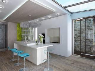 Студия дизайна Натали Хованской Minimalist kitchen White